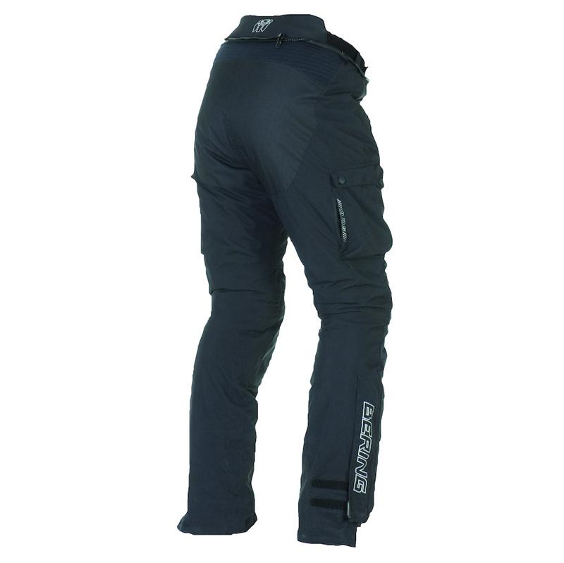 Pantaloni moto Omologati Bering Odyssee 3 strati Nero Allungato