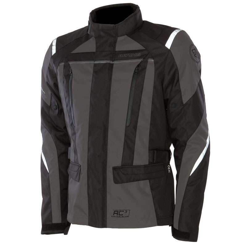 Approved motorcycle jacket Bering Akkor Evo Black Grey