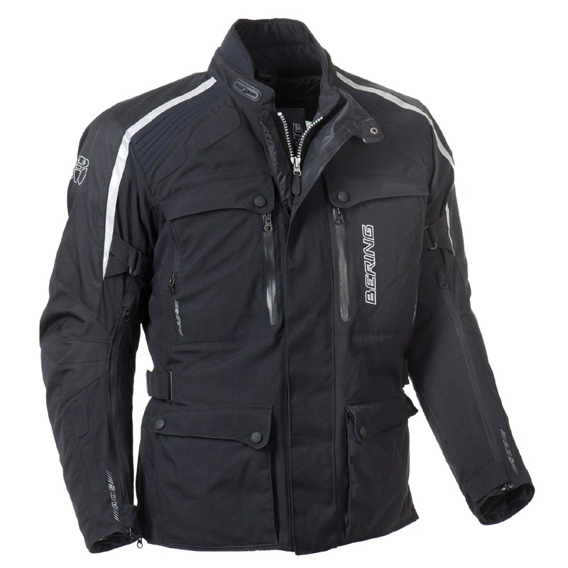 Approved motorcycle jacket Bering Odyssee 3-layer Black