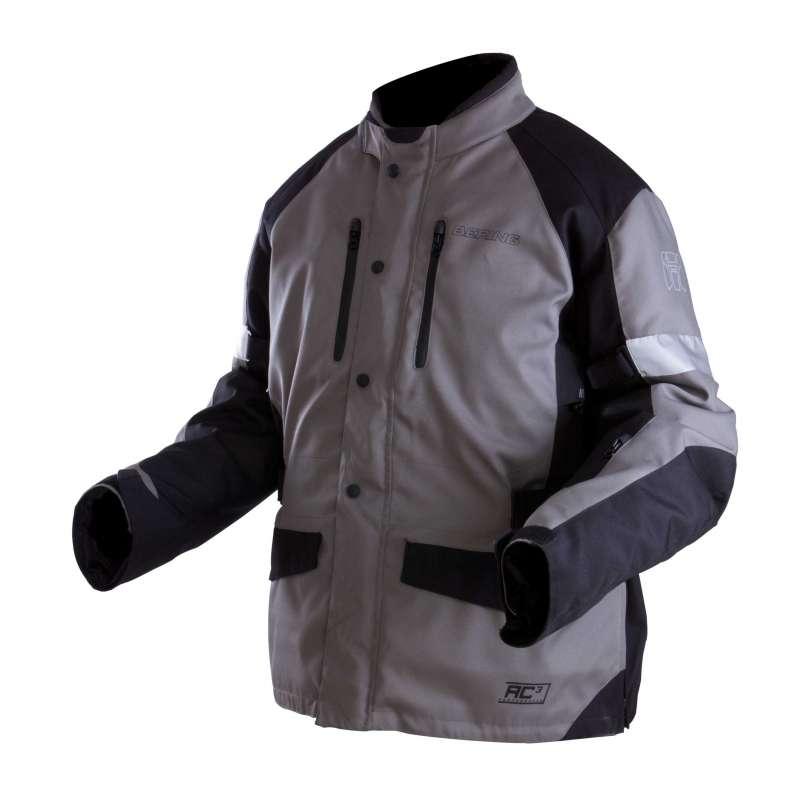 Approved motorcycle jacket Bering Luis King Size Grey Black