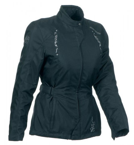 Motorcycle jacket woman Bering Chicca Black Approved