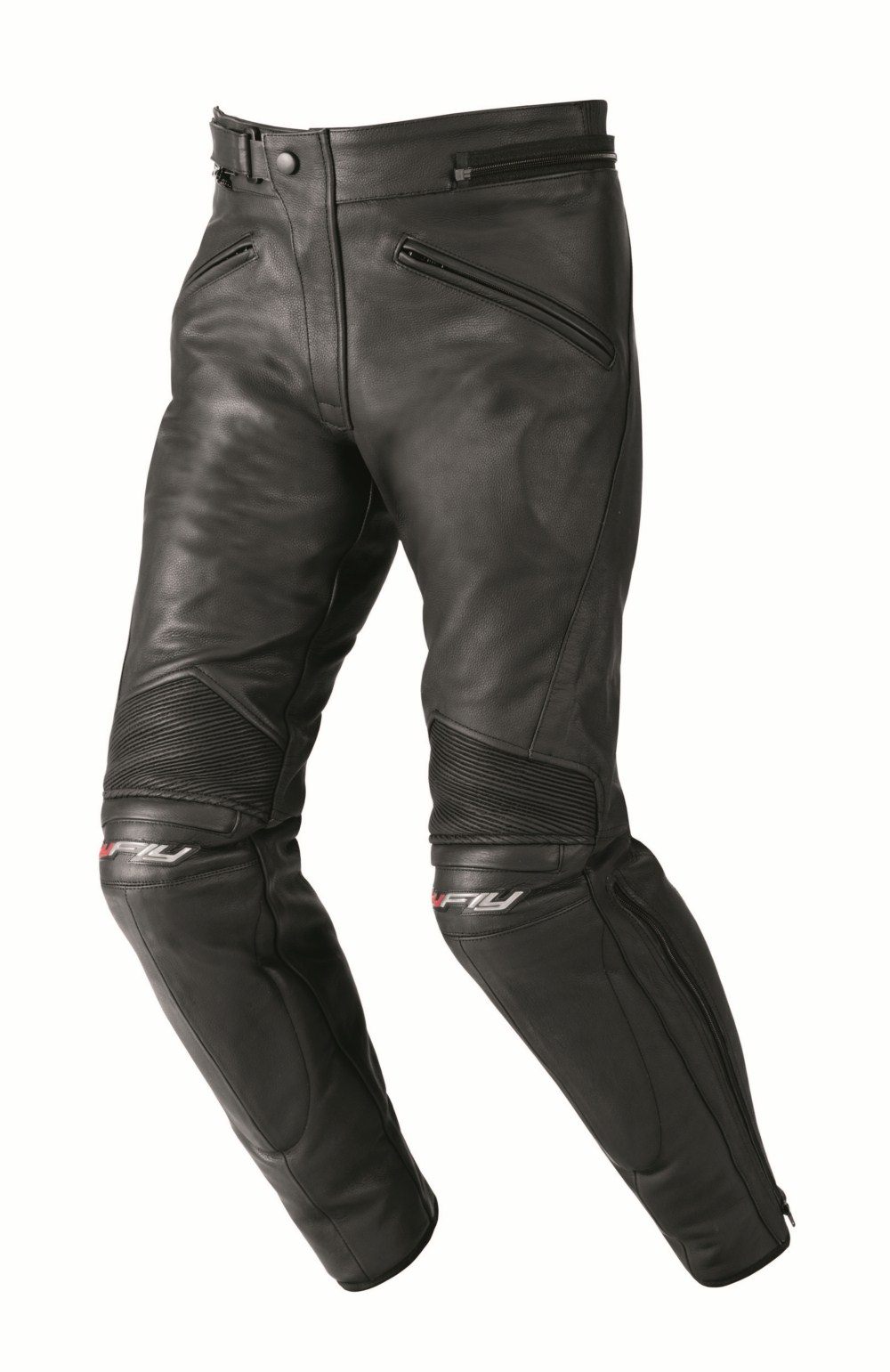 Woman leather motorcycle pants Hy Fly Black Stardom
