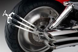 Portatarga Rizoma Nero, per Harley-Davidson