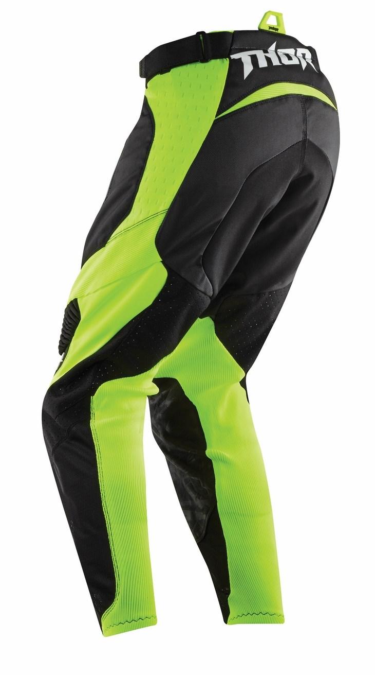 Pantaloni Cross Thor Core Bend nero verde fluo