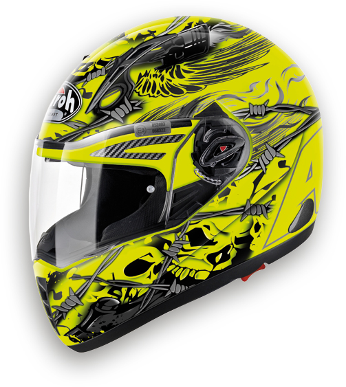 Casco moto integrale Airoh Pit One XR Thorns giallo
