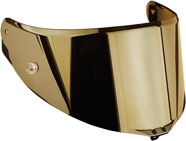 Visiera Race 2  antigraffio iridium oro per caschi Agv