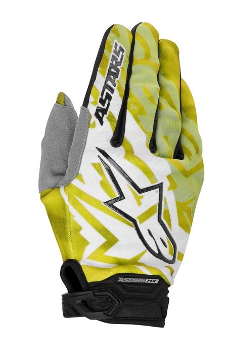 Guanti cross Alpinestars Racer 2014 giallo nero