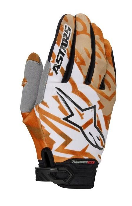 Alpinestars Racer 2014 offroad gloves orange black