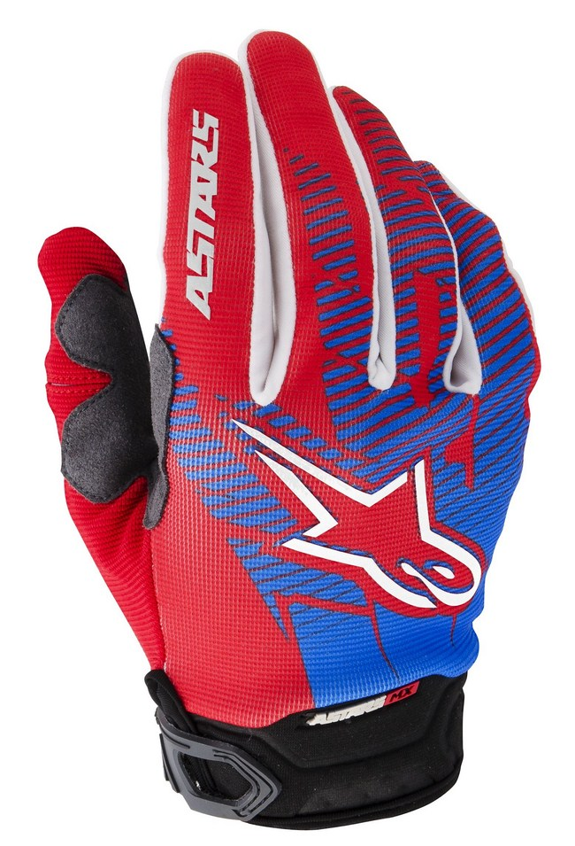 Alpinestars Racer off-road gloves red cyan white