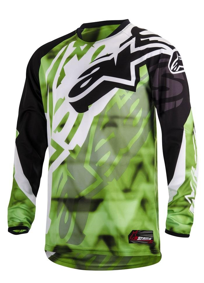 Alpinestars Racer 2014 offroad jersey green black