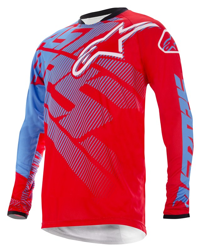 Alpinestars Racer off-road jersey red cyan white