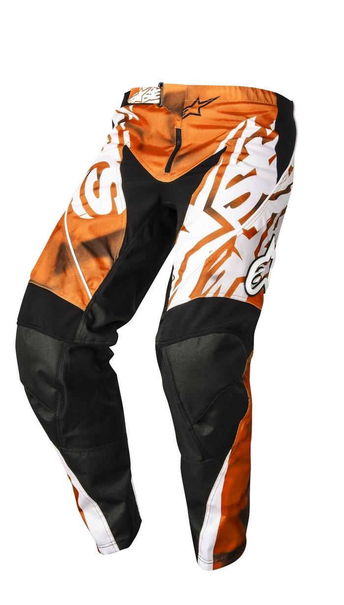 Pantaloni cross Alpinestars Racer 2014 arancio nero
