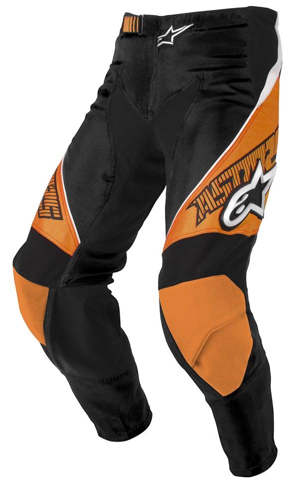 Pantaloni cross Alpinestars Racer arancio nero