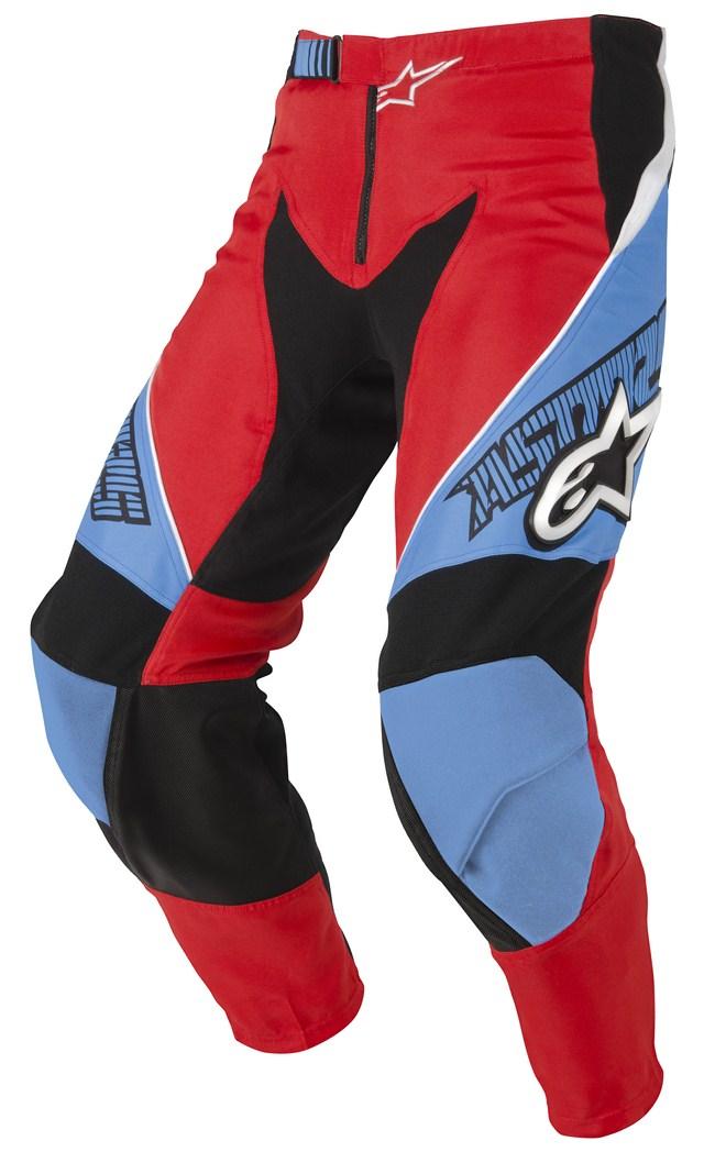 Pantaloni cross Alpinestars Racer rosso azzurro nero