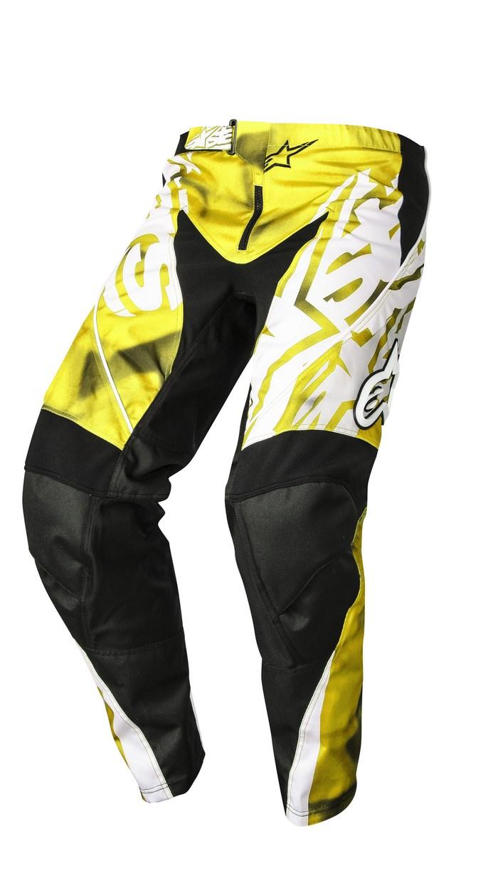 Alpinestars Racer 2014 offroad pants yellow black