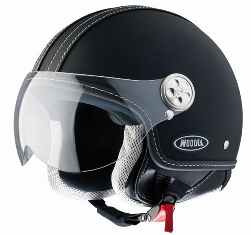 D-jet Woodex Racer sotf Black Helmet