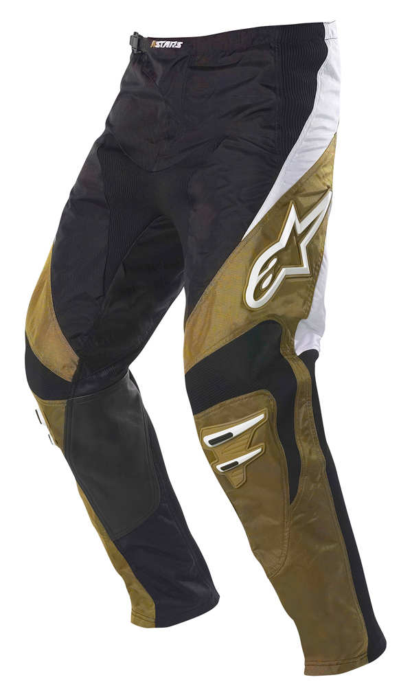 Pantaloni moto cross Alpinestars Racer nero-oro