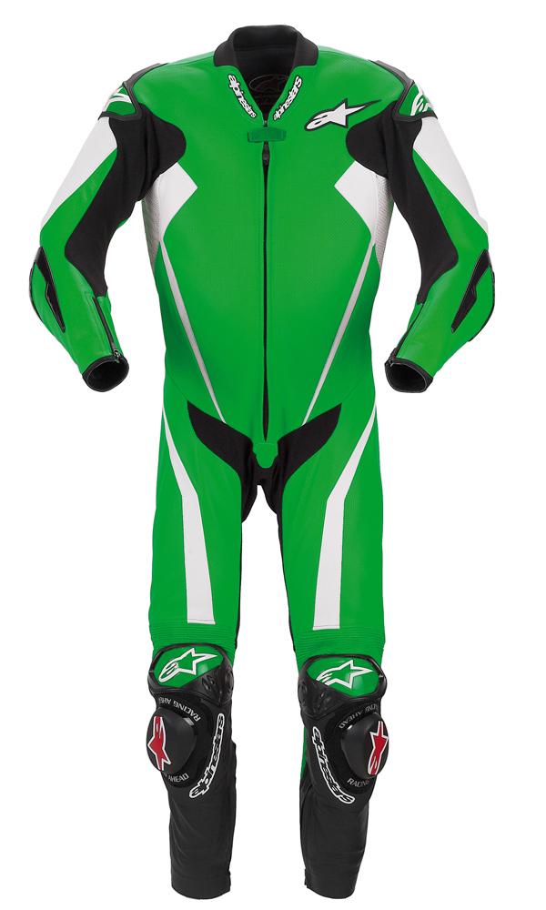 Alpinestars Racing Replica leather suit green
