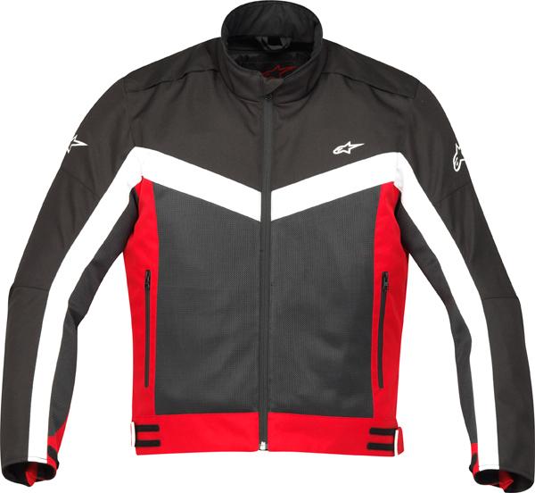 Giacca moto Alpinestars Radon Air nera-rosso