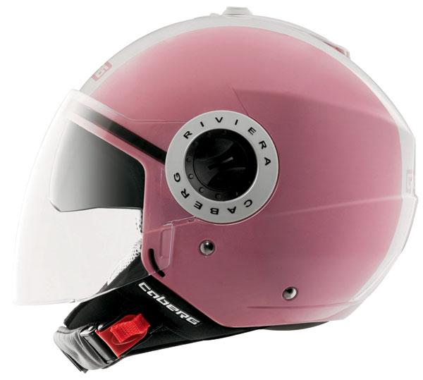 Caberg Riviera V2+ Legend jet helmet Pink White