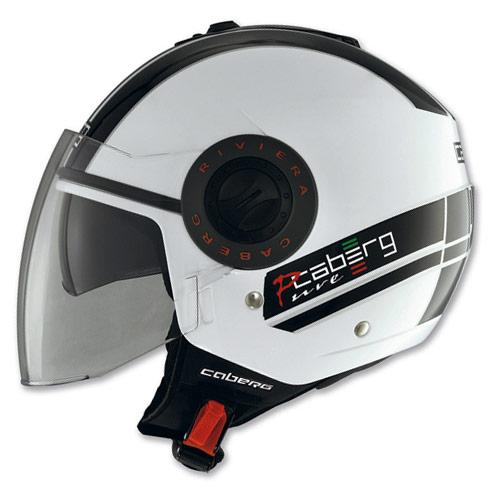 Caberg Riviera V2+ Pure demi-jet helmet white-black