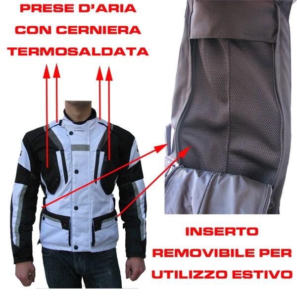 Giacca moto Giudici Master tour 3 strati Nero