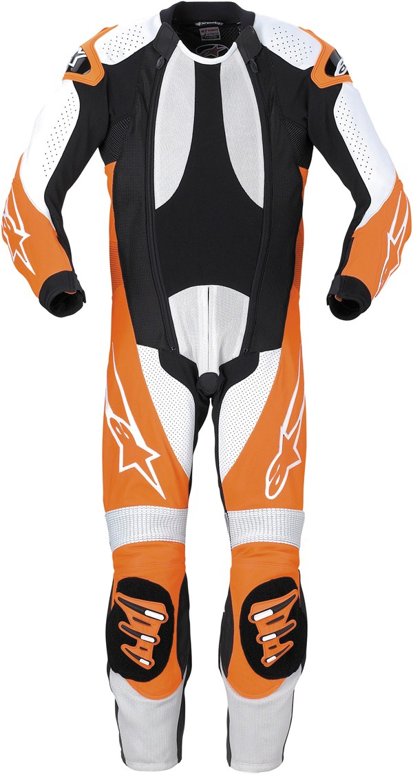 Alpinestars S-1 Supermoto leather suit black-orange