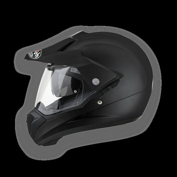 Airoh S5 Color enduro helmet black matt
