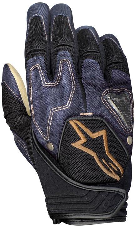 Alpinestars Scheme kevlar denim gloves raw blue