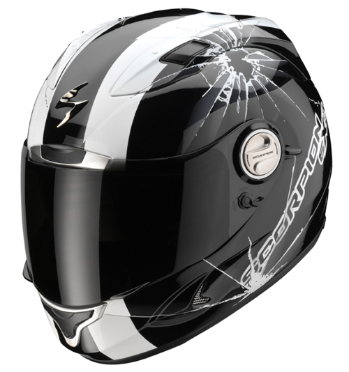Casco moto integrale Scorpion EXO 1000 AIR HI-IMPACT Nero-Bianco