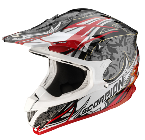 Scorpion VX 15 AIR DIABLO off road helmet Black-Silver-Red