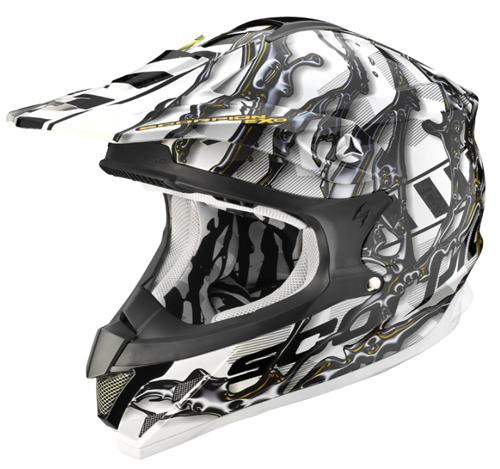Scorpion VX 15 AIR OIL off road helmet White-Black-Yellow