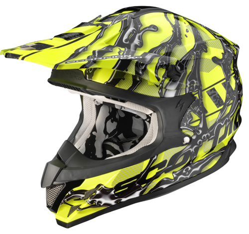 Casco moto cross Scorpion VX 15 AIR OIL GialloNeon-Nero