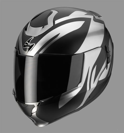 Scorpion EXO 900 Air VIRTUOSE modular helmet Black-Chrome