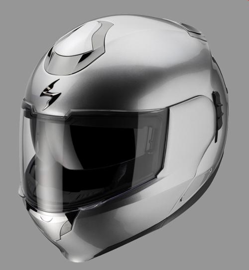 Scorpion EXO 900 Hypersilver flipp off helmet Gloss