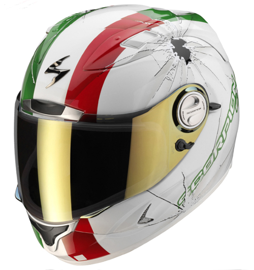 Casco integrale Scorpion EXO 1000 AIR HI-IMPACT BiancoVerdeRosso
