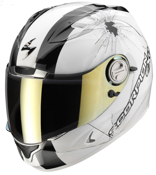 Casco moto integrale Scorpion EXO 1000 AIR HI-IMPACT Bianco-Nero