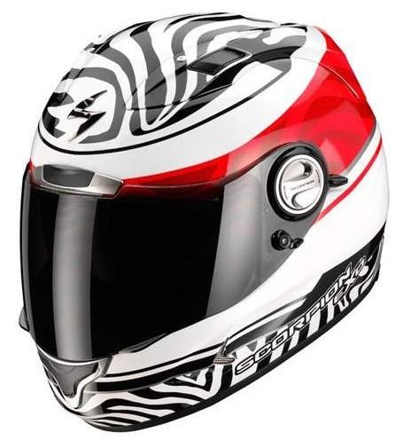 Scorpion EXO 1000 AIR SAMBA full face helmet White-Black-Red