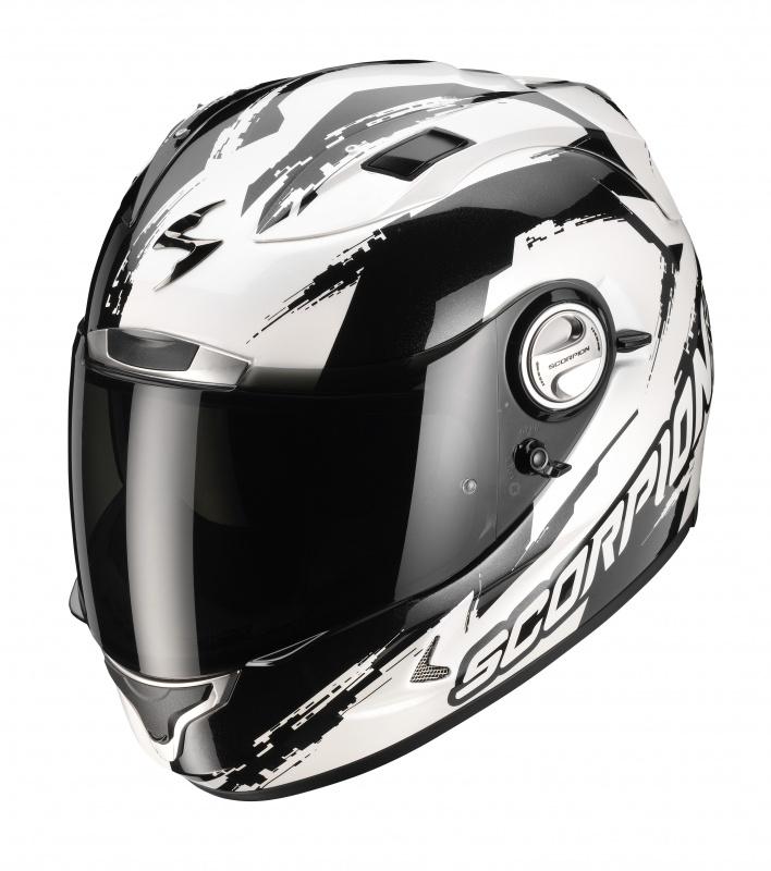 Scorpion EXO 1000 AIR MILAN full face helmet PearlWhite-Black