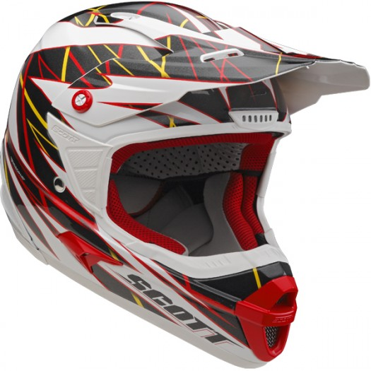 Cross helmet Scott Airborne Grid Red Black