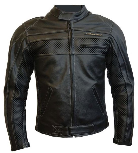 LRI Shield Eagle leather motorcycle jacket black