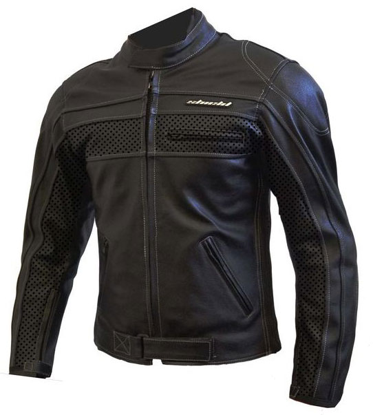 Giubbotto moto in pelle LRI Shield Eagle nero