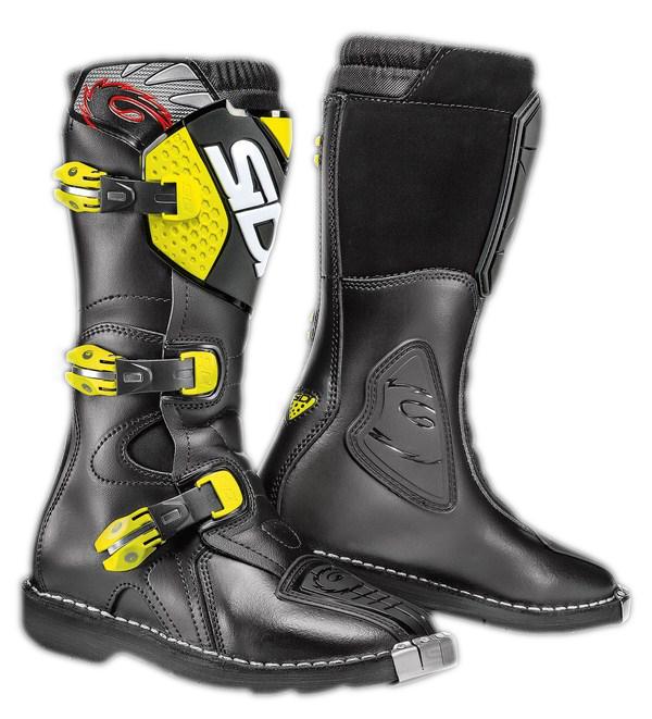 Sidi Blitz Junior boots black-yellow fluo