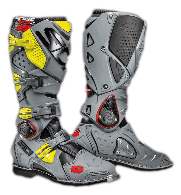 Sidi Crossfire 2 offroad boots black-grey-yellow fluo
