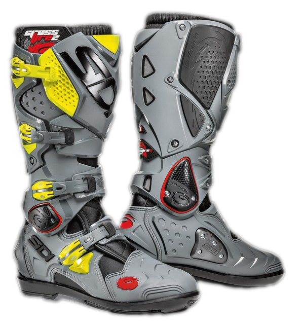 Sidi Crossfire 2 SRS offroad boots black-grey-yellow fluo