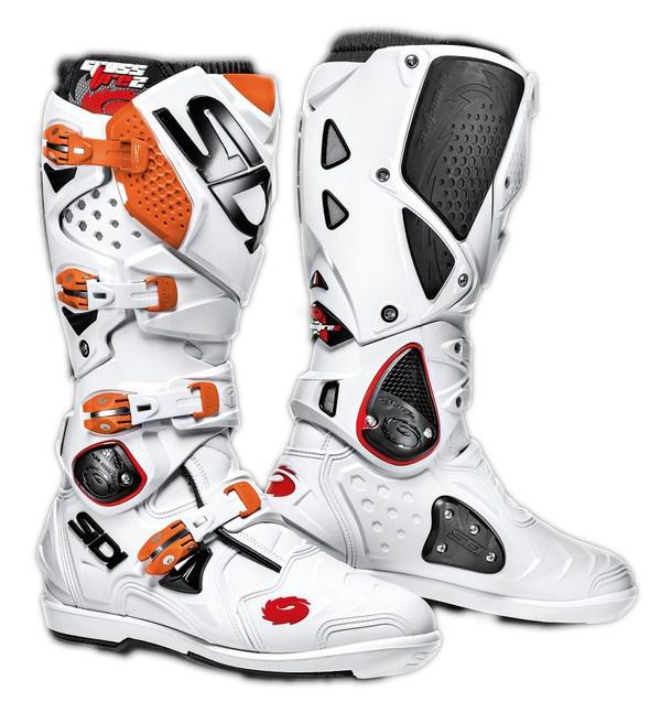 Stivali moto cross Sidi Crossfire 2 SRS bianco-arancio
