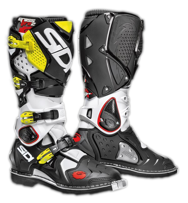 Sidi Crossfire 2 offroad boots white-black-yellow fluo