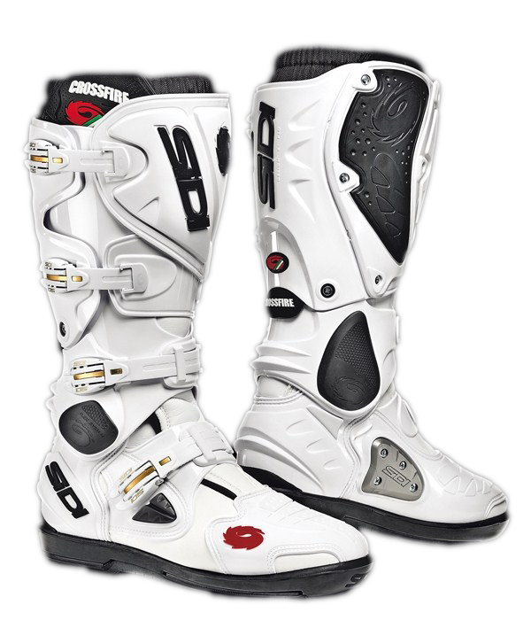 Sidi Crossfire SRS offroad boots white