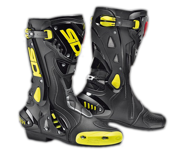 Sidi ST racing boots black-yellow fluo
