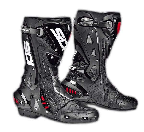 Sidi ST Air racing boots black-black